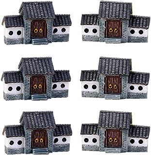 Beauy Girl 6 Pcs Miniature Fairy Garden House, Micro Village House Mini Fairy Cottage House Miniature Fairy Garden Patio O...