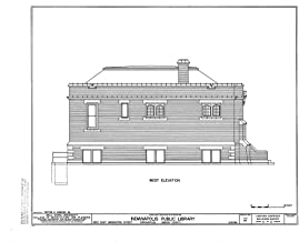 Historic Pictoric Blueprint Diagram HABS IND,49-IND,31- (Sheet 6 of 6) - Indianapolis Public Library, 2822 East Washington Street, Indianapolis, Marion County, in 14in x 11in