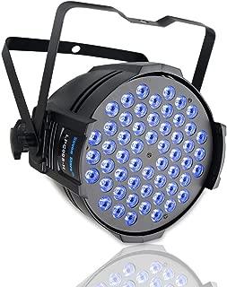 SevenStars 54LED Par DJ Light for Stage Lighting, RGB Sound Activated/DMX-512 Daisy Chain LED light for Wedding/Party/Disco/DJ/Karaoke/Street show