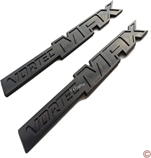 zorratin 2(pair) Full Black Vortec Max Door Emblem Logo Badge Plate Band Decal for Chevrolet 06-09 Silverado Sierra SS 6.0 Gm Truck 6.0 Liter