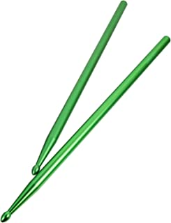Happyyami 1 Pair 5A Classic Drum Sticks Professional Durable Metal Drum Sticks Portable Percussion Instrument Accessories