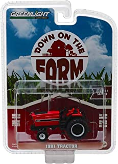 1981 Tractor 3488 Red and Black Down on The Farm Series 1 1/64 Diecast Model by Greenlight 48010 E