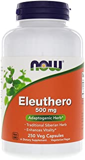 Now Foods Eleuthero, 250 Capsules / 500 Mg