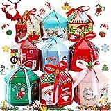 BESTZY 16 Cajas de Regalo Navidad, Cajas Papel Caramelo Juego Decorativa Cajas Dulces Pasteles Galletas Dulces Cupcakes para Navidad Cumpleaños Vacaciones(Estilo Aleatorio)