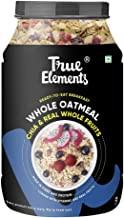True Elements Whole Oatmeal with Chia and Fruits 1kg - Oatmeal for Breakfast, Made with Rolled Oats, Healthy Food