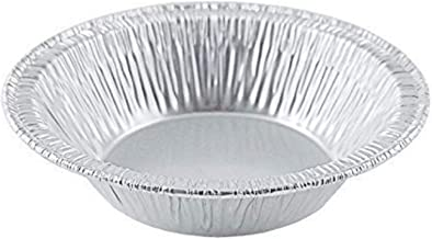 Small Mini Aluminum Foil Disposable Baking Tart Pans - 3 3/8 inches Pie Tins for Hot and Cold Foods Made in USA (Pack of 100)