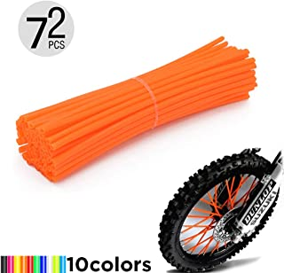 "Motorcycle Spoke Skins, 72pcs/lot 24cm Universal Colorful Motocross Dirt Bike Spoke Covers for 8""-21"" Rims Kawasaki KX KL-XF KLR KL R-Z400S SM RM2 F750GS Honda CRF XL XLR XR KTM Yamaha XT250-600 WRF"