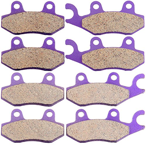 SCITOO Kevlar Carbon Fiber Brake Pads Fit for Kawasaki Ninja ZX10R ZX1000C 2004 2005 ZX1000D 2005 Front and Rear FA369//4 FA192 991249-5206-1519011