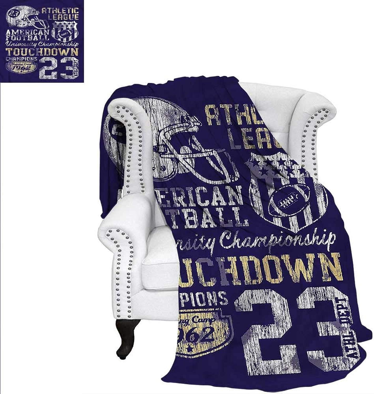 Sports Throw Blanket Retro American Football Blanket 60 x50