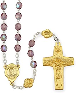 Pope Francis Rosary with Gold Finish Original Pope Francis Cross by Vedele