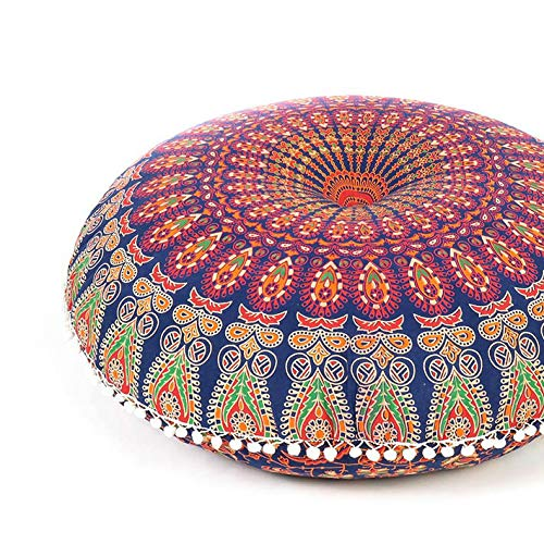 Eyes of India - 32' Mandala Pavimento Meditazione Cuscino Seduta Cuscino Copriletto Hippie Rotondo...