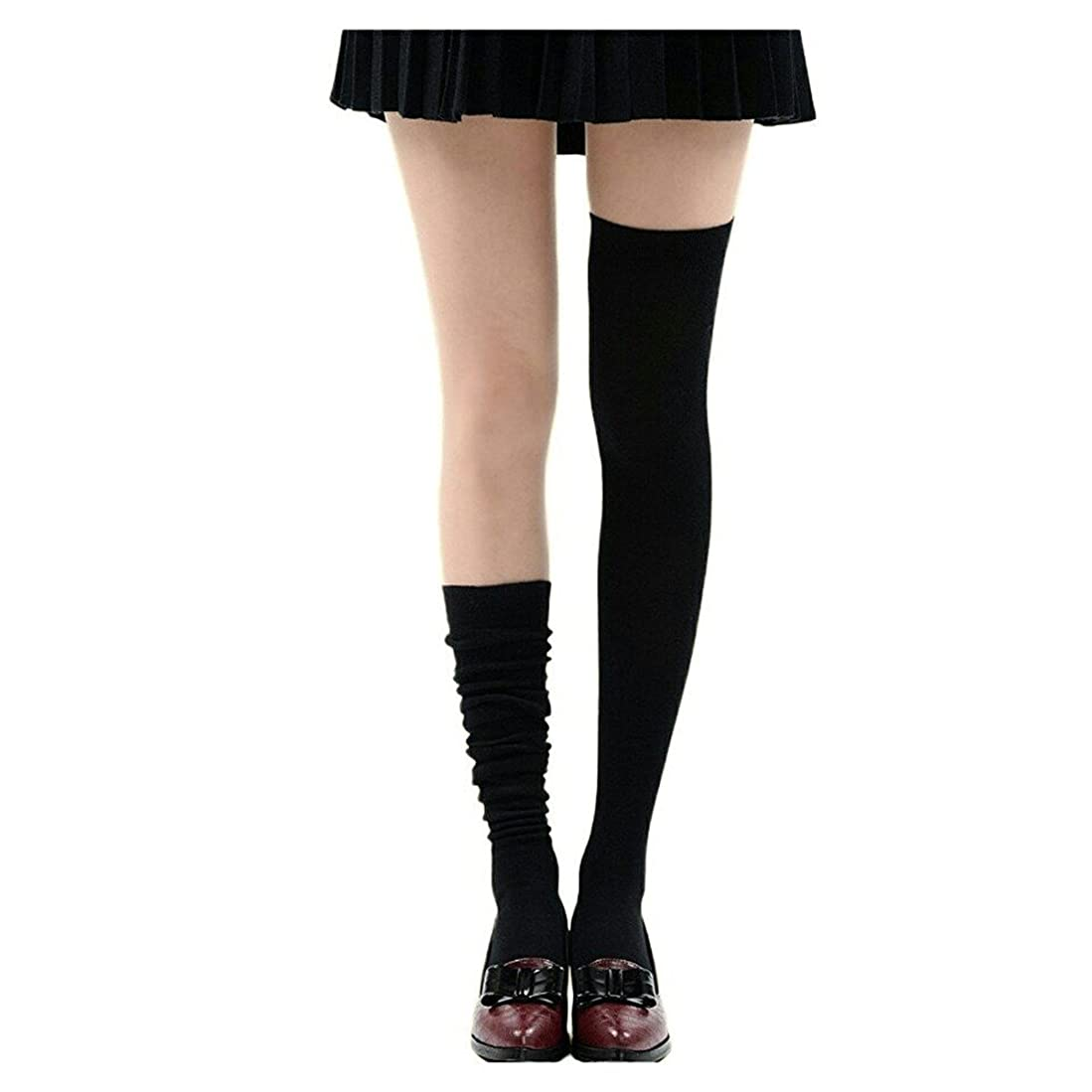 変動する司教治安判事Manu20 トップ弾力性 女子高生の靴下 サイハイソックス スッキリ 美脚 着圧オーバーニーソックス