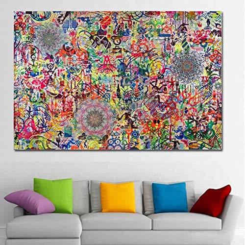 WJY Andy Warhol Poster Print Abstrakte Leinwand Malerei Wandkunst Bilder für Wohnzimmer dekorative Cuadros Gemälde 50cm x75cm Kein Rahmen