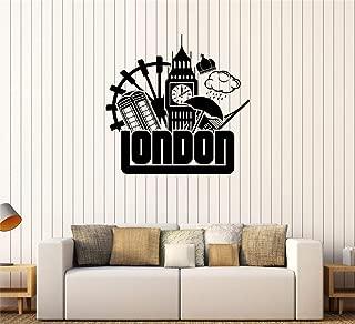 Tecvuy Vinyl Wall Sticker Decal Quote Home Decor London Symbol United Kingdom UK