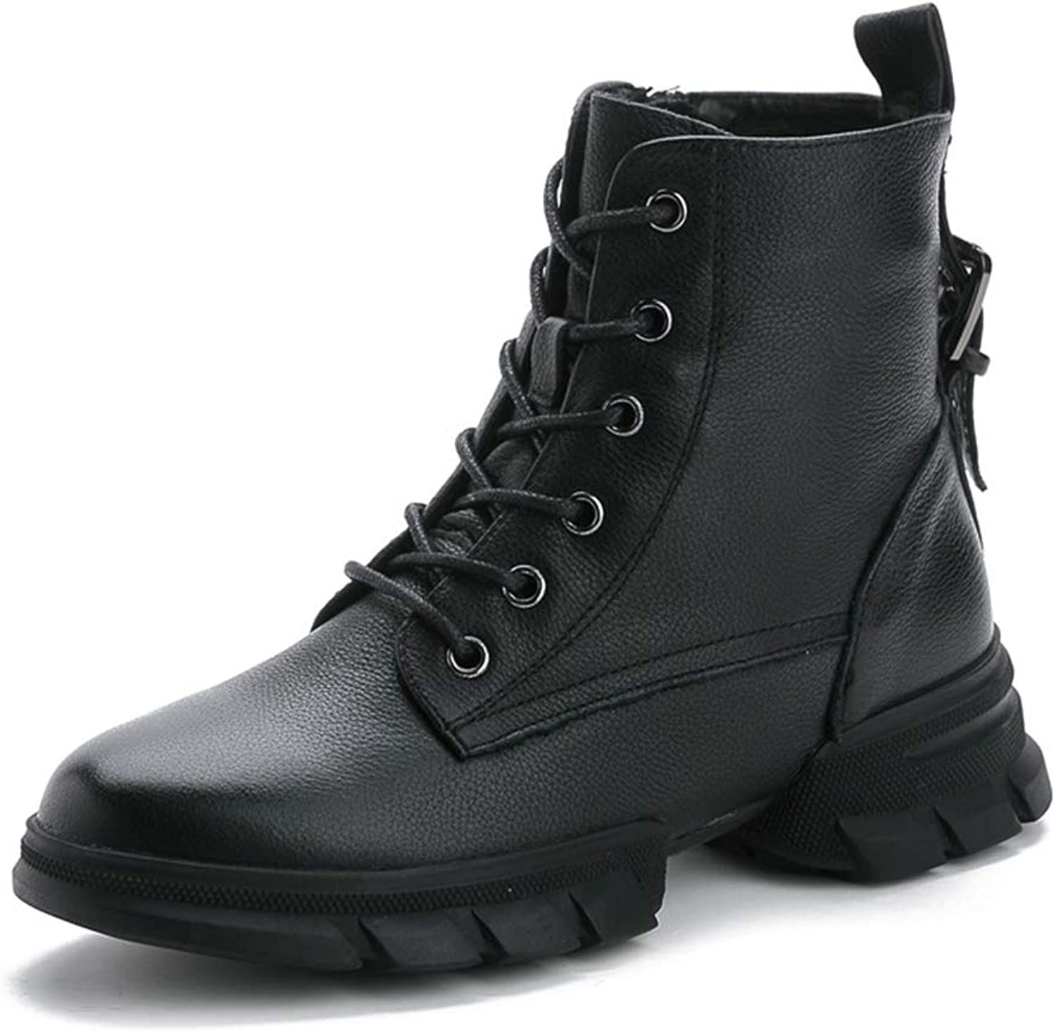 BREAORTION Women's Casual Lace-up Athletic Ankle Boots Ladies Fashion Rubber Sole Martin Boots