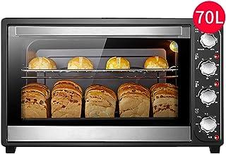 DIOE Mini horno pequeño europeo, 8 tubos de calentamiento rápido, bandeja para hornear y potencia de cocción de 2200 W - horno eléctrico de gran capacidad para hornear en casa 70L