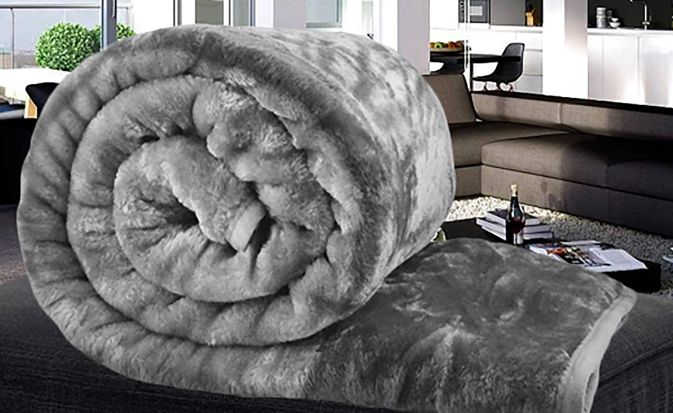 Luxury Warm Thick Soft Faux Fur Mink Throw Sofa Bed Blanket Single Double King