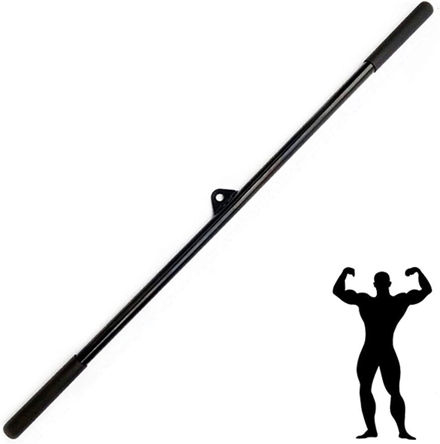 Max 58% OFF JSQC Strength It is very popular Training Straight Bars with Grips Rubber Non-Slip