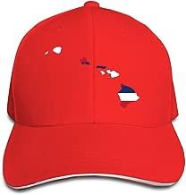 Flag Map Of Hawaii Adjustable Flat Caps Unisex Sandwich Hats