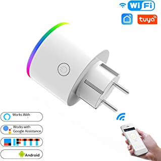 WXJHA WiFi Smart Plug Outlet Wireless Power Socket Smart Life/Tuya App Remote Control Work with Google Home No Hub Required, Timing Function