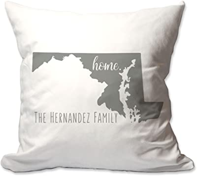 Pattern Pop Personalized State Of Maryland Home Throw Pillow Home Kitchen