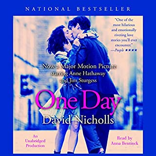 One Day                   By:                                                                                                                                 David Nicholls                               Narrated by:                                                                                                                                 Anna Bentinck                      Length: 16 hrs and 25 mins     1,186 ratings     Overall 3.6