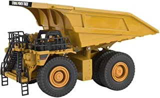 Dilwe RC Static Model Car, 1/40 RC Alloy Excavator Car Remote Control Mining Dump Vehicle Truck Above 8 Years Old
