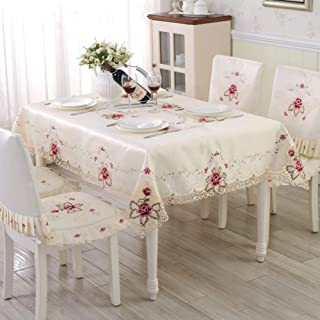 JFFFFWI The European Garden Embroidered Luxury Table Cloth, Cloth Pad Pad - with a Diameter of 175 cm (69 Customs)