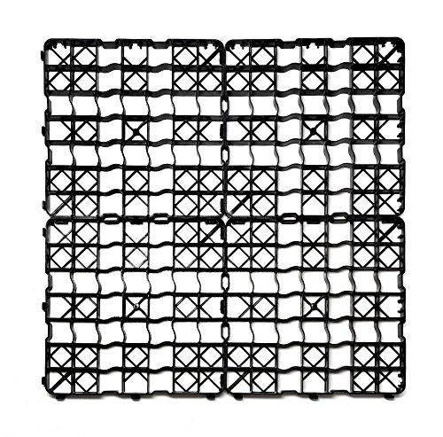 acerto 8X Rasengitter Kunststoff Platte, 50 x 50 x 4 cm - Befahrbar – 2 m² Rasenfläche – bis 240t/m² | Hochwertige Rasengitterplatten, Paddockplatten