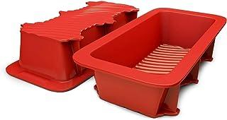 مجموعه نان و نان سیلیکونی از مجموعه 2 دستور العمل تهیه نان خانگی قرمز ، غیر رنگ ، تجاری درجه یک به علاوه خانگی