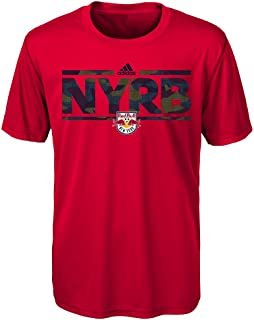 MLS New York Red Bulls Boys Outerstuff Climalite Short Sleeve Dassler Tactical Alt Color, Team Color , Youth Small (6-8)