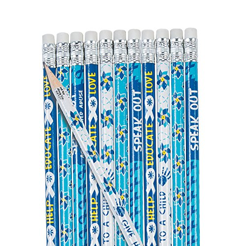 Fun Express - Child Abuse & Awareness Pencils - Stationery - Pencils - Pencils - Printed - 24 Pieces