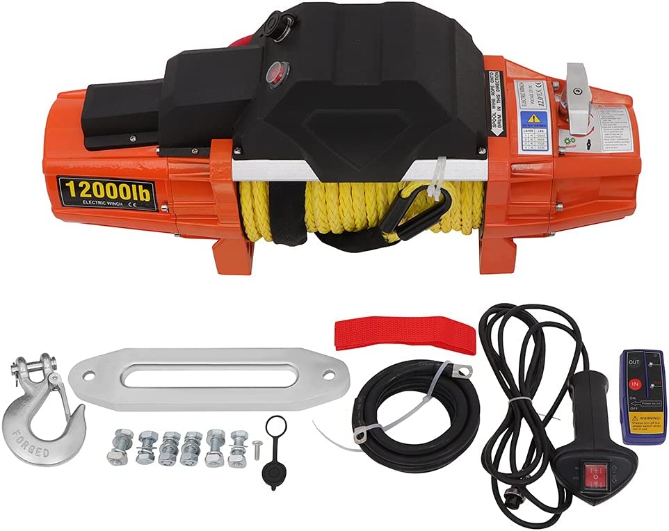 Max 48% OFF OCPTY Electric Winch Synthetic Rope Waterproof Truck Max 75% OFF Off- Towing