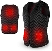 AGPTEK Heated Vest USB Charging, Electric Heating Clothing, Washable Adjustable for Outdoor, Motor, Fishing, Hiking, Hunting, Camping (Battery Not Included)