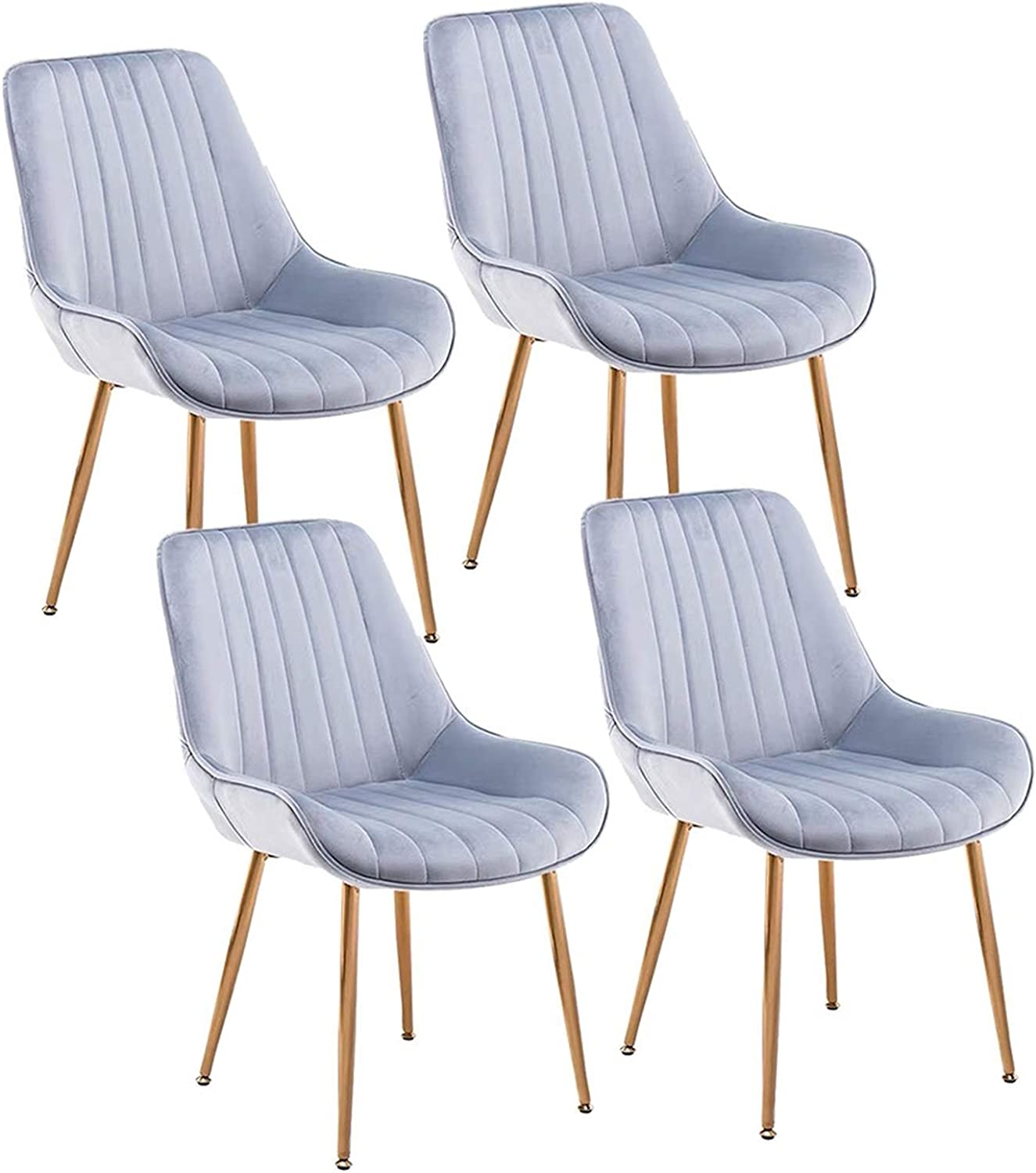 LLLD Flannel Dining Side Chairs Fabric Gold Cheap A surprise price is realized bargain Feet Strong Titanium