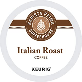Barista Prima Coffeehouse Italian Roast Coffee K-Cup for Keurig Brewers, Italian Roast Coffee (Count of 96) - Packaging Ma...