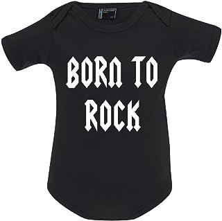Tachinedas Kreativshop Unisex Baby Body Strampler mit Druck Born to Rock