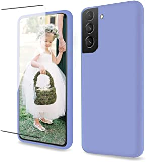 for Samsung Galaxy S21 Case 6.2 Inch, with [1 x Tempered Glass Screen Protector] Clear 360 Full Body Silicone Protective S...