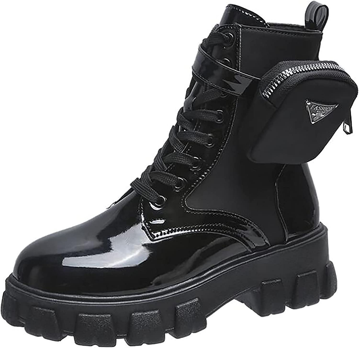 Boots for Women Medium Tube Round Head Solid Side Zipper Low Hee