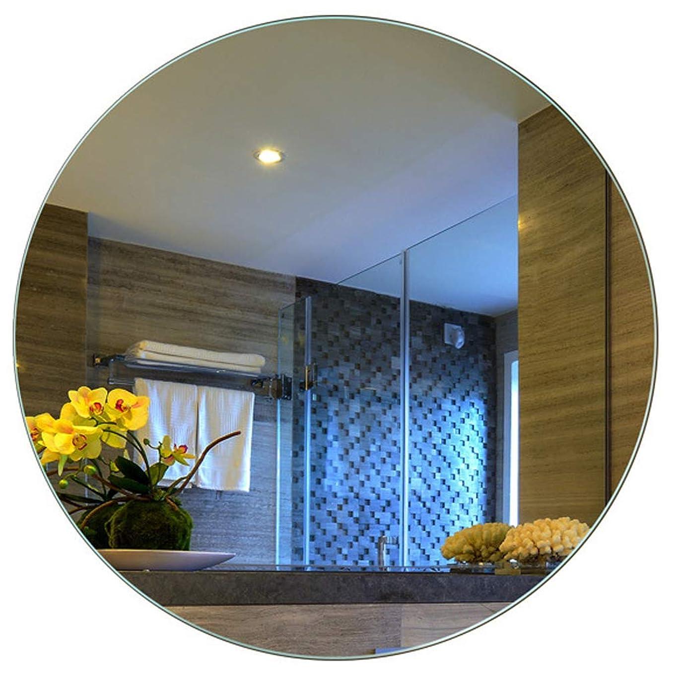 最愛のマナースツール壁に取り付けられた化粧鏡、バックライト壁に取り付けられたバスルームのLEDミラー、直径70センチメートル、白、家具の鏡、装飾用鏡に使用