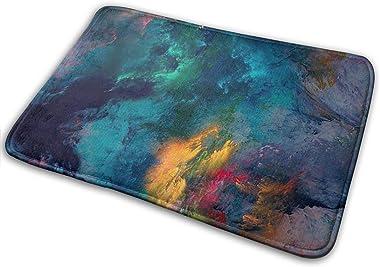 Non-Slip Doormats Art Smoke Entrance Rug Indoor/Outdoor Carpet Absorbs Moisture Washable Dirt Trapper Mats