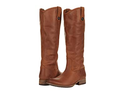 Frye Melissa Button Lug (Cognac Waterproof Polished Soft Full Grain) Women