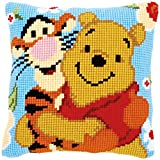 Vervaco Cross Stitch Cushion: Winnie and Tigger, Acrylic, Assorted, 40 x 2 x 40 cm