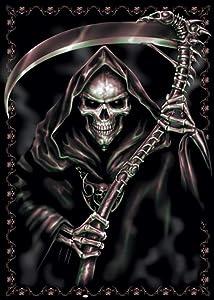 Pyramid America Spiral Assassin Grim Reaper of Death with Scythe Fantasy Horror Biker Cool Wall Decor Art Print Poster 24x36
