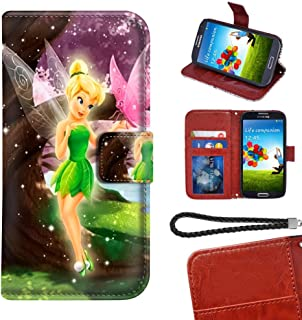 DISNEY COLLECTION Phone Wallet Case for Samsung Galaxy S6 Edge 5.1 Inch Tinker Bell and Butterfly Series