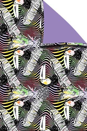 DHestia - Pareo Toalla de Playa Estampado y Rizo para Secarse de 100x150 cm Tucan Violeta
