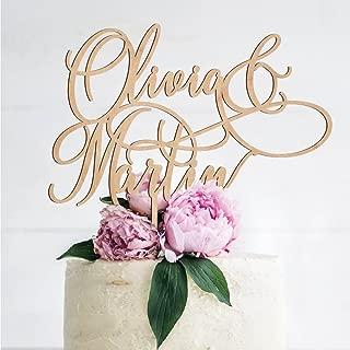 name wedding cake topper