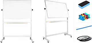 """flybold Mobile Whiteboard 48"""" x 36"""" inch Magnetic Double Sided Flip Over Dry.."""