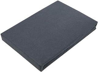 Drap-housse en jersey de qualité supérieure avec élastique, Coton, anthracite, 120 x 200 cm