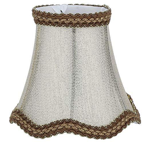 Pantallas de lámpara de barril, juego de 6 pantallas de lámpara pequeñas con clip de bombilla para lámparas de mesa Lámpara de pared de araña de 3 'en la parte superior por 5' en la parte inferior